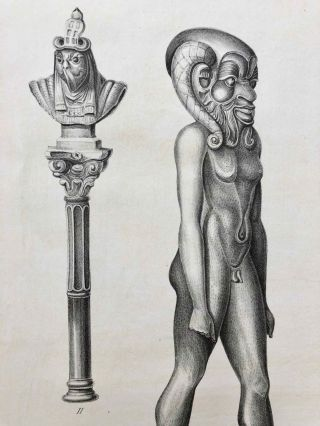 A series of highly finished engravings, by P.Q. Visconti, comprising a few of the principal objects in a collection of Egyptian antiquities, the property of Giovanni d'Athanasi, by whom the greater portion have been discovered.[newline]M7149-21.jpg