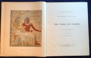Wall drawings and monuments of El Kab. Vol. I: The tomb of Paheri. Vol. II: The tomb of Sebeknecht. Vol. III: The temple of Amenhetep III. Vol. IV: The tomb of Renni (complete set)[newline]M7150-02.jpg
