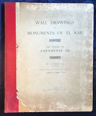 Wall drawings and monuments of El Kab. Vol. I: The tomb of Paheri. Vol. II: The tomb of Sebeknecht. Vol. III: The temple of Amenhetep III. Vol. IV: The tomb of Renni (complete set)[newline]M7150-21.jpg