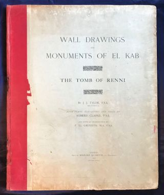 Wall drawings and monuments of El Kab. Vol. I: The tomb of Paheri. Vol. II: The tomb of Sebeknecht. Vol. III: The temple of Amenhetep III. Vol. IV: The tomb of Renni (complete set)[newline]M7150-33.jpg