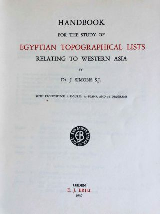 Handbook for the Study of Egyptian Topographical Lists Relating to Western Asia[newline]M7152a-02.jpeg