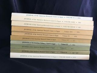 Journal of the American Research Center in Egypt (JARCE). Volumes 1 (1962) to 53 (2017) (complete run)[newline]M7196-01.jpg