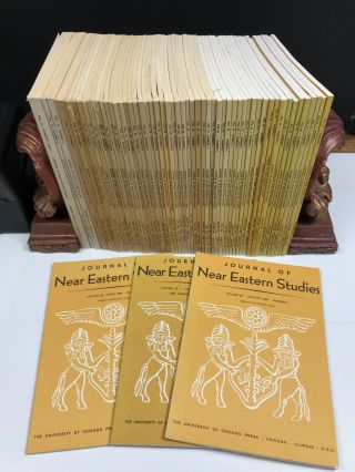 Journal of Near Eastern Studies. Vol. 32 (1973) to 47 (1988), missing 37 and 46. AAE - Journal - Set[newline]M7197a.jpg