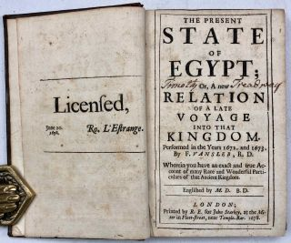 The present state of Egypt. Or: A new relation of a late voyage into the kingdom, performed in the years 1672 and 1673.[newline]M7209-02.jpg