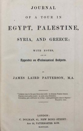 Journal of a Tour in Egypt, Palestine, Syria and Greece with Notes and an Appendix on Ecclesiastical Subjects[newline]M7211-03.jpg
