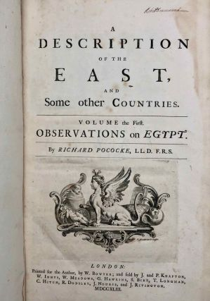 Description of the East and Some Other Countries. Vol. I: Observations on Egypt[newline]M7225a-03.jpg