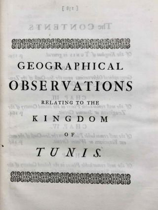 Travels, or Observations Relating to Several Parts of Barbary and the Levant[newline]M7226-12.jpg