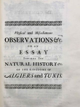 Travels, or Observations Relating to Several Parts of Barbary and the Levant[newline]M7226-15.jpg