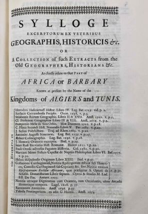 Travels, or Observations Relating to Several Parts of Barbary and the Levant[newline]M7226-28.jpg