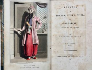 Travels in Turkey, Egypt, Nubia and Palestine in 1824, 1825, 1826 and 1827. 2 volumes (complete set)[newline]M7234-02.jpg