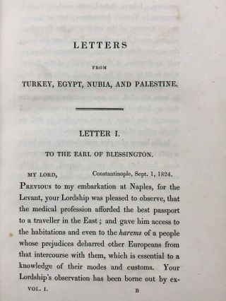 Travels in Turkey, Egypt, Nubia and Palestine in 1824, 1825, 1826 and 1827. 2 volumes (complete set)[newline]M7234-15.jpg