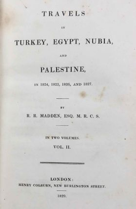 Travels in Turkey, Egypt, Nubia and Palestine in 1824, 1825, 1826 and 1827. 2 volumes (complete set)[newline]M7234-21.jpg