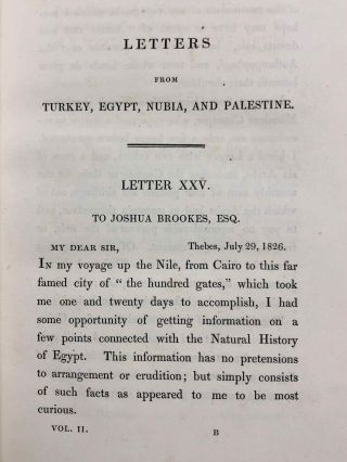 Travels in Turkey, Egypt, Nubia and Palestine in 1824, 1825, 1826 and 1827. 2 volumes (complete set)[newline]M7234-28.jpg