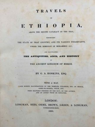 Travels in Ethiopia, above the second cataract of the Nile. Exhibiting the state of that country, and its various inhabitants, under the dominion of Mohammed Ali and illustrating the antiquities, art and history of the ancient kingdom of Meroe.[newline]M7247-04.jpg