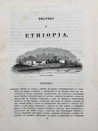 Travels in Ethiopia, above the second cataract of the Nile. Exhibiting the state of that country, and its various inhabitants, under the dominion of Mohammed Ali and illustrating the antiquities, art and history of the ancient kingdom of Meroe.[newline]M7247-21.jpg