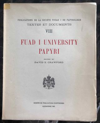 Fuad I University Papyri. CRAWFORD David Stewart[newline]M7297.jpg