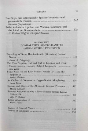 Egyptian and Semito-Hamitic (Afro-Asiatic) studies: in memoriam W. Vycichl[newline]M7331-06.jpg