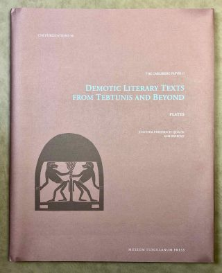 Demotic Literary Texts from Tebtunis and Beyond. 2 volumes (complete set)[newline]M7337-14.jpg