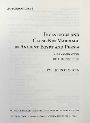 Incestuous and Close-Kin Marriage in Ancient Egypt and Persia. An examination of the evidence.[newline]M7338-01.jpg