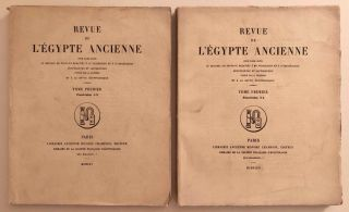 Revue de l'Egypte ancienne, Tome I. Fasc. 1-2 & Fasc. 3-4 (complete). AAE - Journal - Single issue[newline]M7346.jpg
