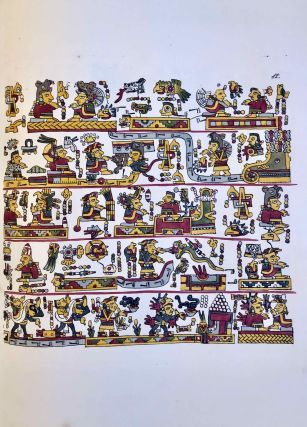 Antiquities of Mexico. Comprising fac-similes of ancient Mexican paintings and hieroglyphics, preserved in the royal libraries of Paris, Berlin and Dresden, in the Imperial library of Vienna, in the Vatican library; in the Borgian museum at Rome; in the library of the Institute at Bologna; and in the Bodleian library at Oxford. Together with the Monuments of New Spain, by M. Dupaix: with their respective scales of measurement and accompanying descriptions.[newline]M7573-1174.jpeg