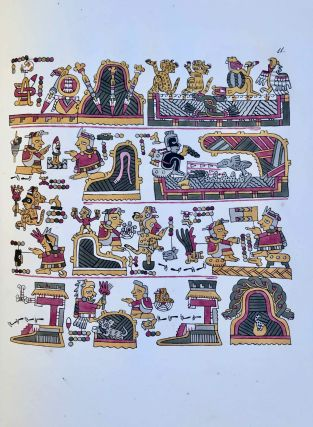 Antiquities of Mexico. Comprising fac-similes of ancient Mexican paintings and hieroglyphics, preserved in the royal libraries of Paris, Berlin and Dresden, in the Imperial library of Vienna, in the Vatican library; in the Borgian museum at Rome; in the library of the Institute at Bologna; and in the Bodleian library at Oxford. Together with the Monuments of New Spain, by M. Dupaix: with their respective scales of measurement and accompanying descriptions.[newline]M7573-1215.jpeg