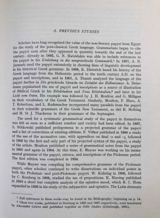 A Grammar of the Greek papyri of the Roman and Byzantine periods. Vol. I: Phonology. Vol. II: Morphology (complete set)[newline]M7582-08.jpeg