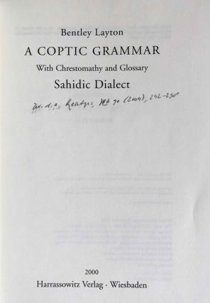 A Coptic Grammar with Chrestomathy and Glossary, Sahidic Dialect[newline]M7611-01.jpeg
