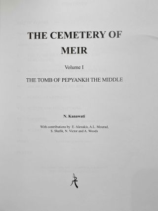 The cemetery of Meir. Vol. I: The tomb of Pepyankh the Middle. Vol. II: The tomb of Pepyankh the Black. Vol. III: The tomb of Niankhpepy the Black. Vol. IV: The tomb of Senbi I and Wekhhotep I (complete set)[newline]M8137a-02.jpeg