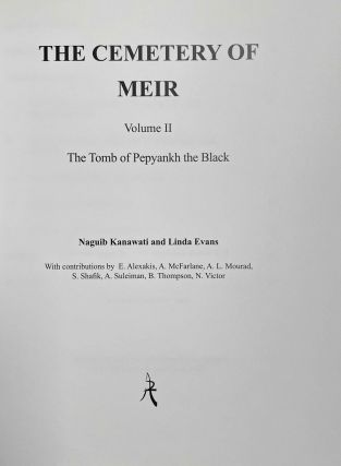 The cemetery of Meir. Vol. I: The tomb of Pepyankh the Middle. Vol. II: The tomb of Pepyankh the Black. Vol. III: The tomb of Niankhpepy the Black. Vol. IV: The tomb of Senbi I and Wekhhotep I (complete set)[newline]M8137a-09.jpeg