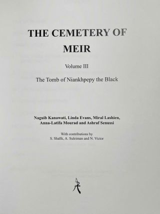 The cemetery of Meir. Vol. I: The tomb of Pepyankh the Middle. Vol. II: The tomb of Pepyankh the Black. Vol. III: The tomb of Niankhpepy the Black. Vol. IV: The tomb of Senbi I and Wekhhotep I (complete set)[newline]M8137a-17.jpeg