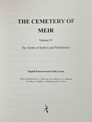 The cemetery of Meir. Vol. I: The tomb of Pepyankh the Middle. Vol. II: The tomb of Pepyankh the Black. Vol. III: The tomb of Niankhpepy the Black. Vol. IV: The tomb of Senbi I and Wekhhotep I (complete set)[newline]M8137a-25.jpeg
