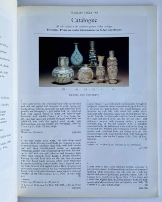 Christie's Auction Catalogue: The Alfred Wolkenberg Collection of Ancient Glass. Tuesday,9 July, 1991.[newline]M8286-04.jpeg